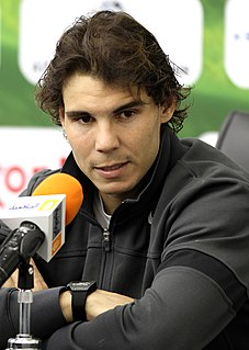 Rafael Nadal Spanish tennis player