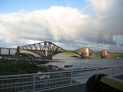 Railbridge on the Firth of Forth, an engineering marvel constructed in 1890