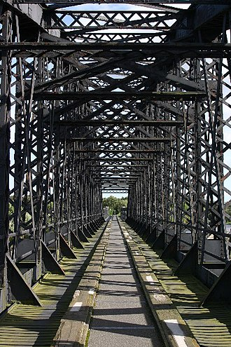 Beeching cuts - Nineteenth-century railway bridge over the River Spey, closed in 1965 and now part of the Moray Coast trail