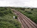 Railway line and fuel depots - geograph.org.uk - 190185.jpg