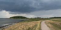 Rain clouds over Fehmarn, near Orth 20140812 1.jpg