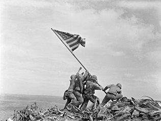 Photograph of Flag Raising on Iwo Jima (NAID 520748)