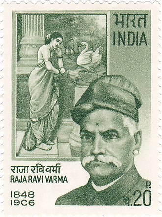 Raja Ravi Varma - Raja Ravi Varma on a 1971 stamp of India