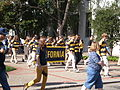 Rally Comm en route to Memorial Stadium for 2008 Big Game.JPG