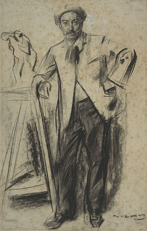 Antonin Mercié - Antonin Mercié   sketched by Ramon Casas (MNAC)