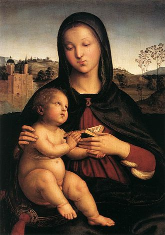 Madonna and Child with the Book - Image: Raphael Madonna Pasadena