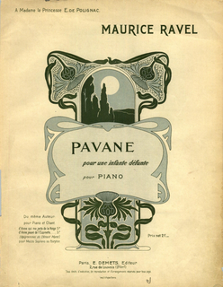 <i>Pavane pour une infante défunte</i> composition for piano by Maurice Ravel