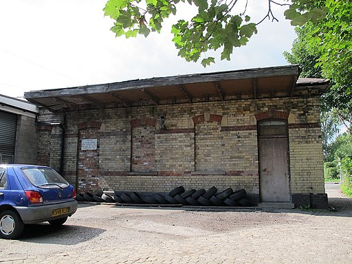 Rear of former Wheelock station building (geograph 3630074)