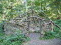 Recreation of an ancient roundhouse in Raincliffe Woods - geograph.org.uk - 1510176.jpg