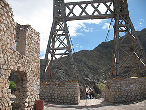Ojuela - Image: Recuerdo del Puente de Ojuela Gold Mine 1892 near Torreon, Mexico 005 800X600
