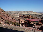 Red Rocks Amphitheatre in February