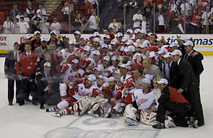 The 2008 Stanley Cup champion Detroit Red Wing...