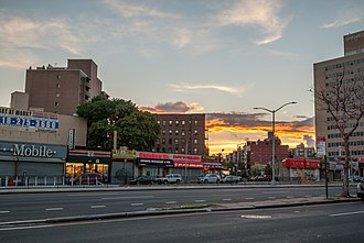 Rego Park, Queens - Local shops and national chains along Queens Blvd (August 2016)