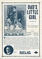 Release flier for DAD'S LITTLE GIRL, 1913.jpg