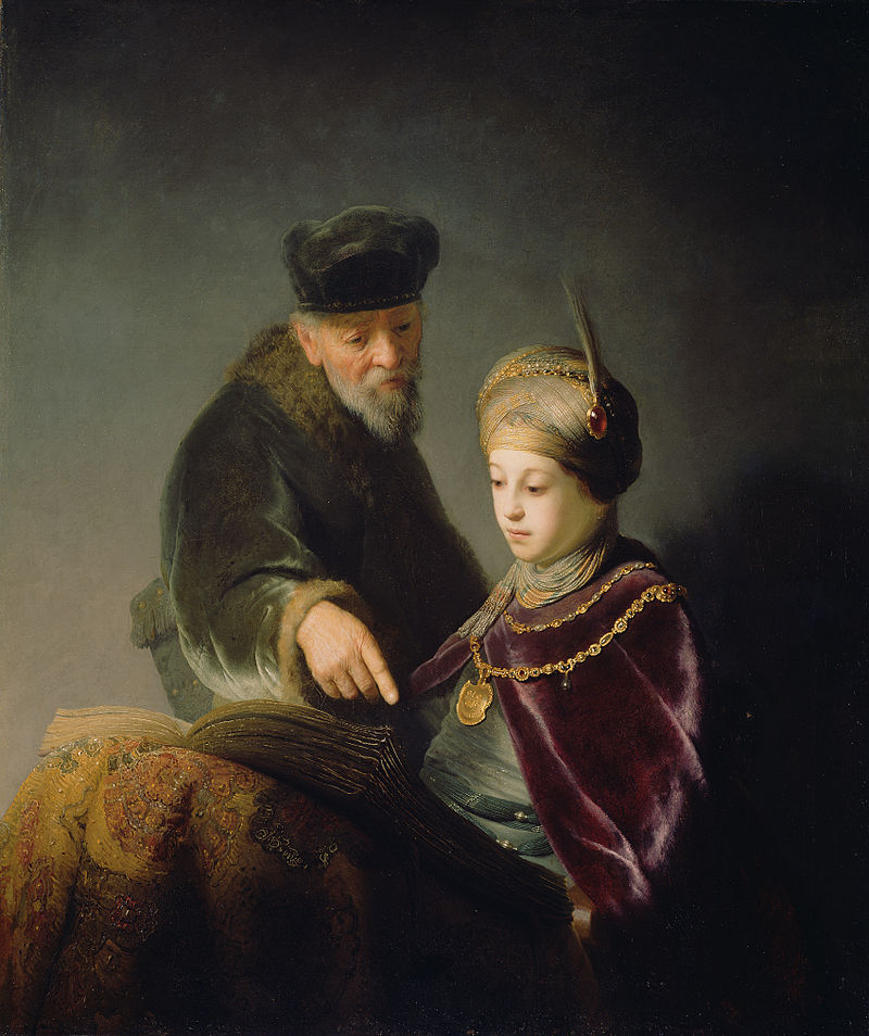 Rembrandt Harmensz. van Rijn - A Young Scholar and his Tutor - Google Art Project.jpg