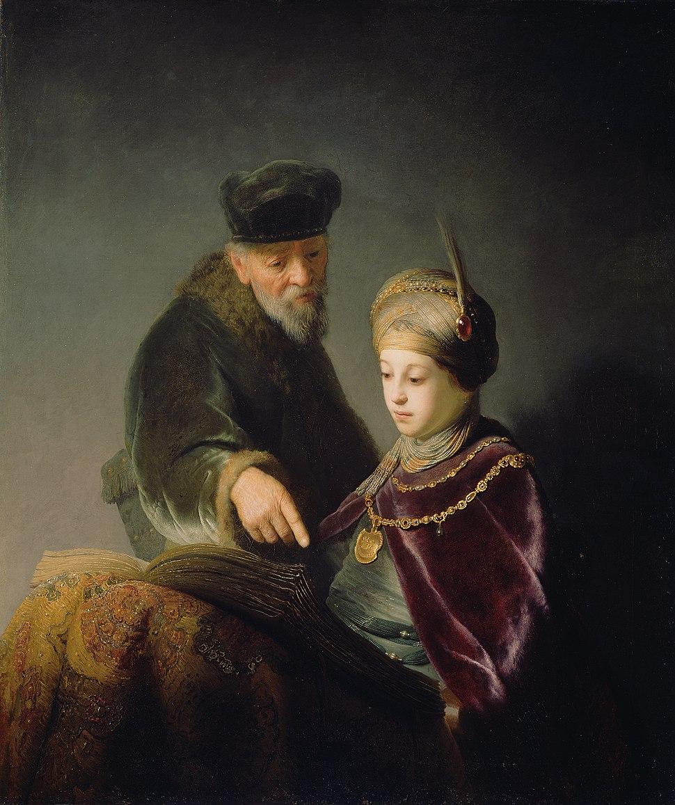 Rembrandt Harmensz. van Rijn - A Young Scholar and his Tutor - Google Art Project