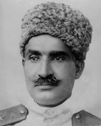 Reza Shah - Reza Pahlavi portrait during his time as war minister