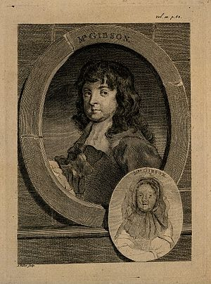 Richard Gibson (painter) - Engraving by A. Walker after Lely's portrait of Gibson and his wife Anne