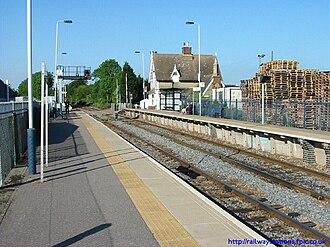 Ridgmont railway station - Image: Ridgmont looking towards bedford
