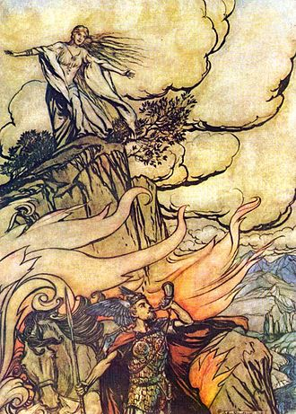 Great Lacuna - This poem dealt extensively with the relationship of Sigurd and Brynhildr. Illustration by Arthur Rackham.
