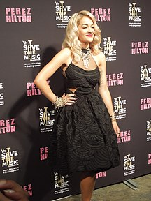 Kosovo-TV och radio-Fil:Rita Ora at Perez Hilton One Night In LA (1)