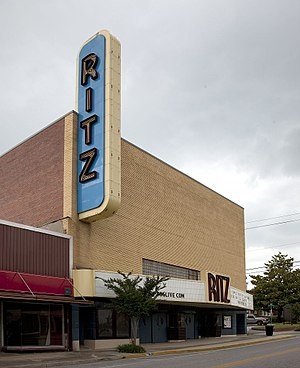 National Register of Historic Places listings in Etowah County, Alabama - Image: Ritz Theatre, 310 Wall Street, Gadsden, Alabama by Highsmith