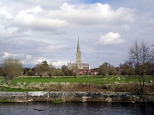 River Nadder - Image: River Nadder Salisbury Cathedral