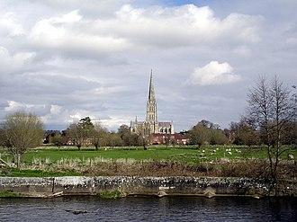 River Nadder - Image: River Nadder Salisbury Cathedral