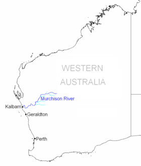 Murchison River en Australie-Occidentale.