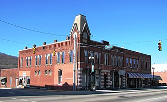 Harriman, Tennessee - Commercial block along Roane Street, built in the 1890s