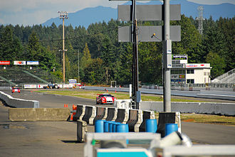 Pacific Raceways - Panoz GTS on the straight, 2007