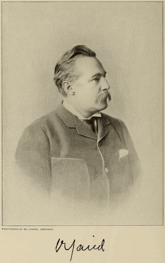 Robert Caird - Photo of Robert Caird from the August 1897 edition of Cassier's Magazine.