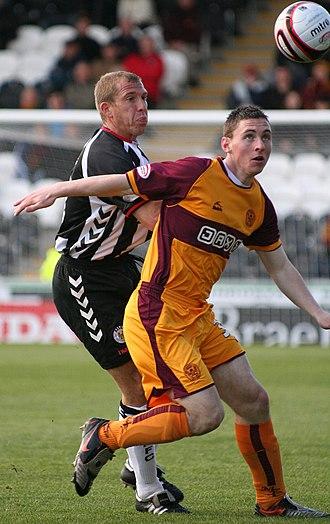 Robert McHugh - McHugh (right) playing for Motherwell