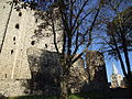 Rochester Castle Keep Drum Tower Southern Curtain Wall Cathedral 0027.JPG