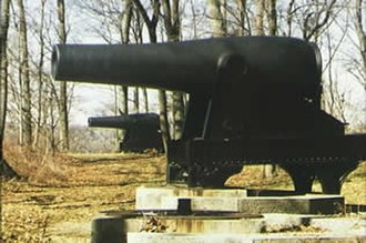 Fort Foote - Two Rodman Guns as they exist at Fort Foote today.