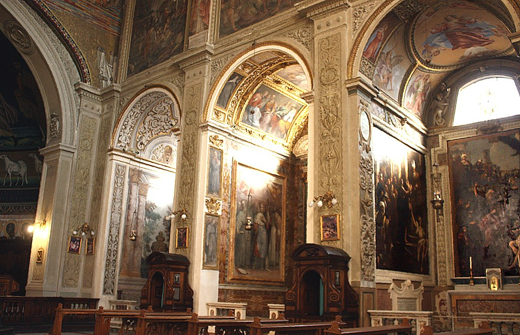 Rom, Kirche Santi Cosma e Damiano, Innenansicht, Bild 2.JPG