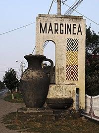 Romania Marginea Suceava Sign With Black Pottery.jpg