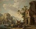 Rosa - Veduta di una baia (con porto con arme d'Este) (Paesaggio), 346.jpg
