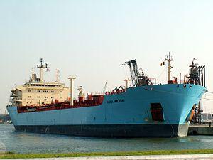 Rosa Maersk, Port of Antwerp, Belgium 12-Oct-2005.jpg