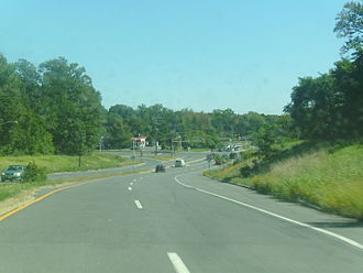 New Jersey Route 92 - Promenade Boulevard, built as part of the Route 522 upgrade, a project to stop Route 92