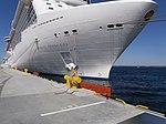 Royal Princess Name Sign and Mooring Bollard Pier 27 Port of Tallinn 17 May 2014.jpg