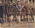 Rudolf von Alt - Blick auf den Dogenpalast in Venedig - 1874.jpeg