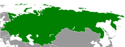 Russia between December 1917 and January 1918, after recognition of Finnish independence and before other declarations of independence.