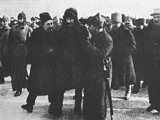 Alexei Rykov - Alexey Rykov, Joseph Stalin and Klim Voroshilov  Feb 1928.