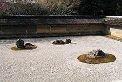 Zen garden at Ryōan-ji.