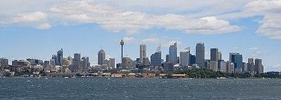 Sydney skyline from the east
