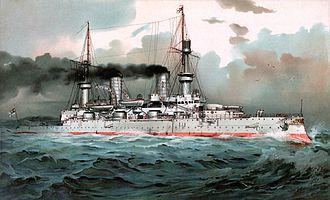 SMS Kaiser Wilhelm II - Image: S.M. Linienschiff Kaiser Wilhelm II restoration, borderless