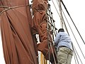 SB Ironsides stowing the topsail 7123.JPG