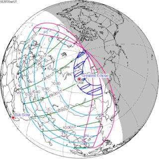 Solar eclipse of September 12, 2072 Tolal solar eclipse
