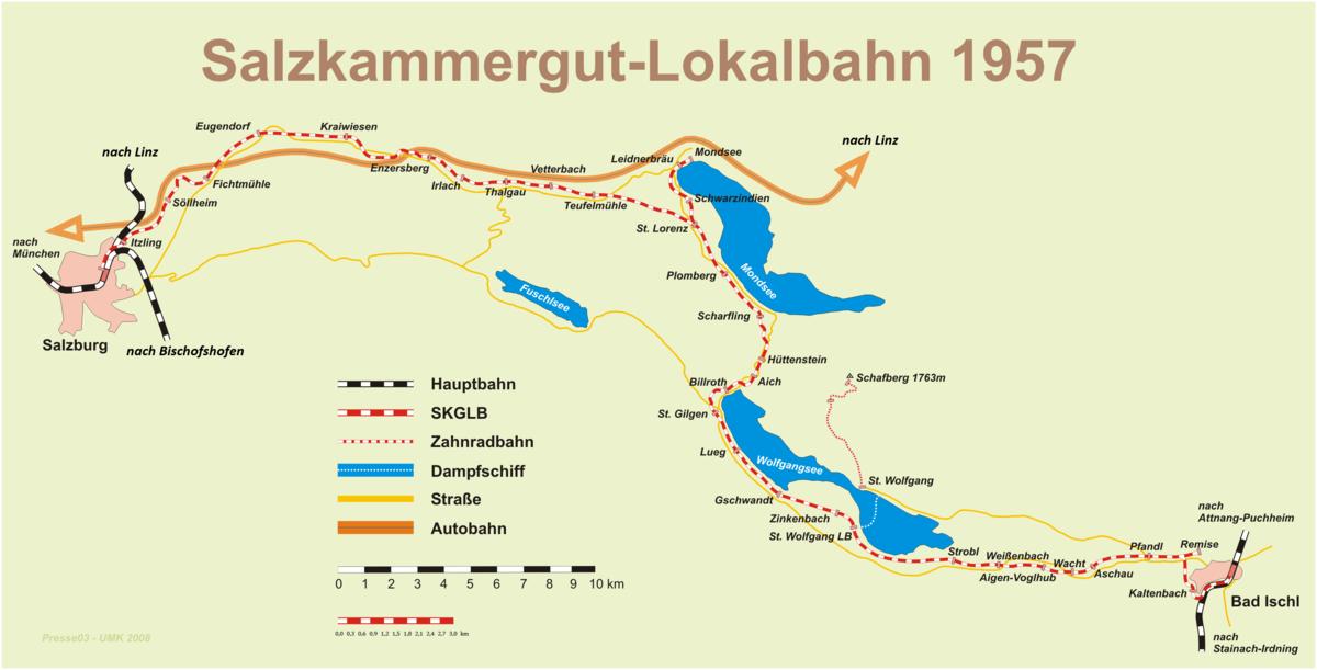 Die Salzkammergut-Lokalbahn